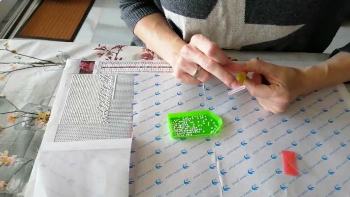 Sådan sætter du flere diamanter på ad gangen i diamond paint