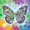 Sommerfugl lavet af sommerfugle i diamond paint