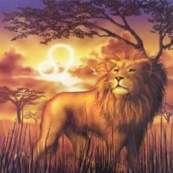 Stjernetegn 2 - Løven i diamond paint