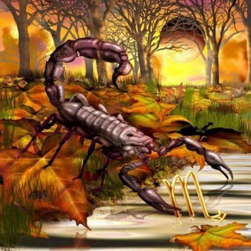 Stjernetegn 2 - Skorpion i diamond paint