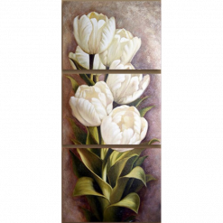 Hvide tulipaner i diamond paint