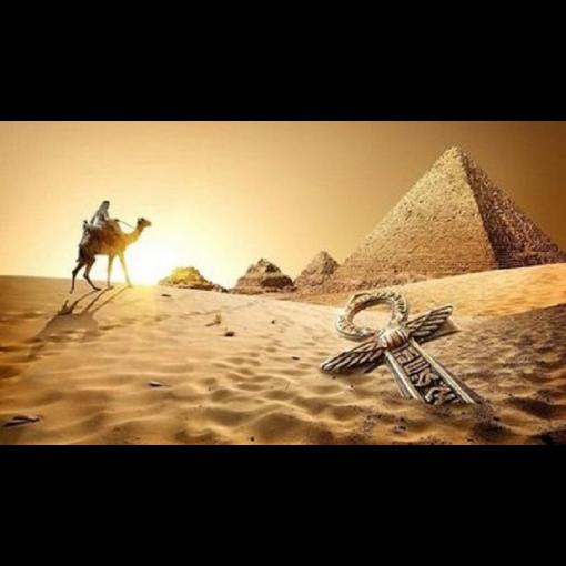 Kamel og pyramider i diamond paint