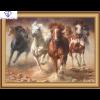 Løbende heste med indbygget ramme i diamond paint