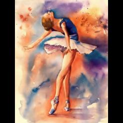 Balletdanser i diamond paint