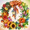 Blomsterkrans i diamond paint