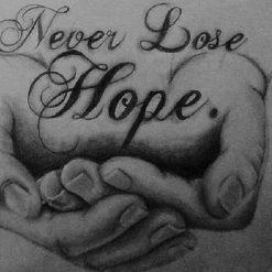 Never lose hope i diamond paint