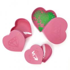 Hjerteformet bakke (3 i 1) til diamond paint
