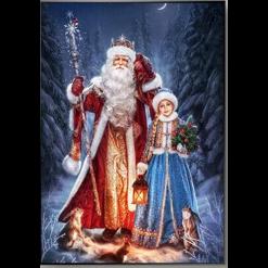 Julemand og pige i diamond paint
