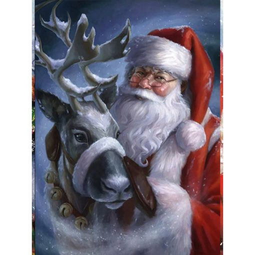 Julemanden med sit rensdyr