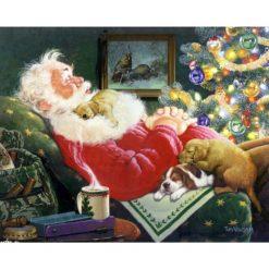 Julemanden slapper af