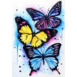 3 sommerfugle i diamond paint