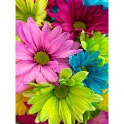 Blomster i mange farver - diamond paint
