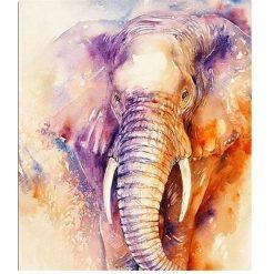 Flot elefant i diamond paint