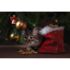Kat under juletræ i diamond paint