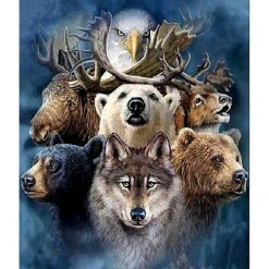 Mange forskellige dyr i diamond paint