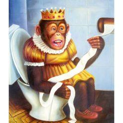 Royal abe på toilettet 2