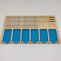Bakkeholder i træ med 6 bakker og 24 bøtter til diamond paint