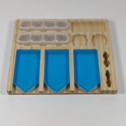 Bakkeholder med 3 bakker og 8 bøtter
