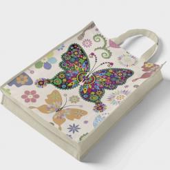 Indkøbsnet med sommerfugle i diamond paint